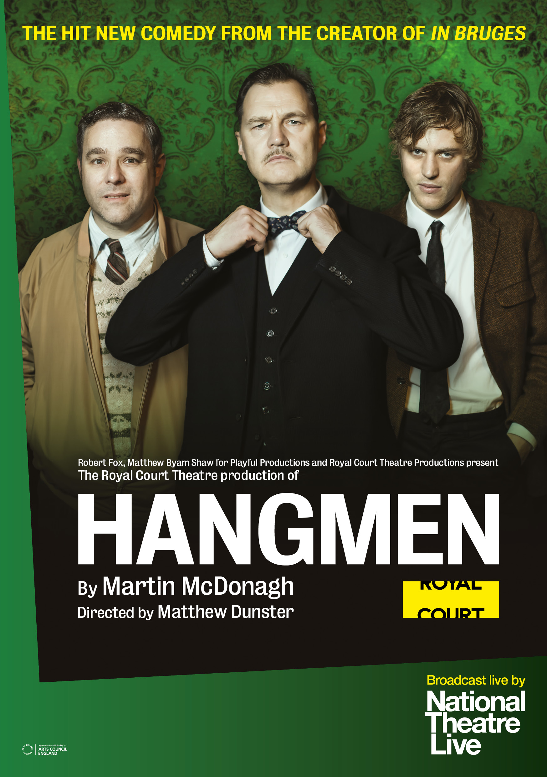 National Theatre Live to broadcast Hangmen in Sony 4K