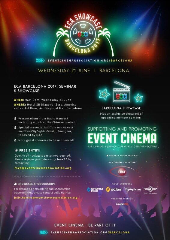 The ECA announce details of their Showcase in Barcelona 2017