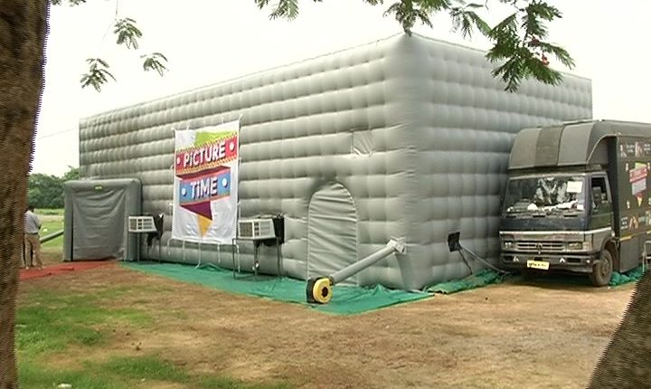 Mobile Theatre Complex: Multiplex cinema viewing experience for Rural masses | Odisha Television Limited