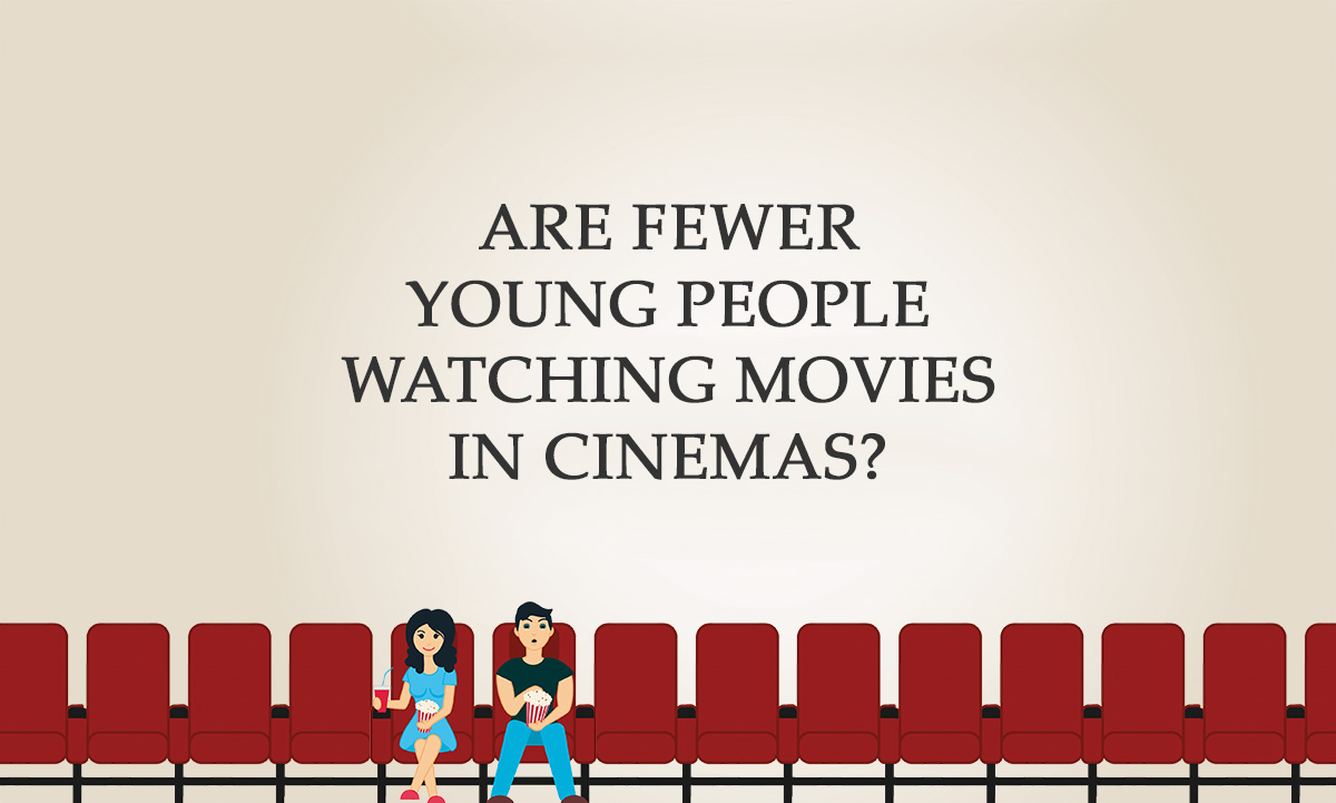 Are fewer young people watching movies in cinemas?